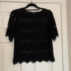 See through black lace style top